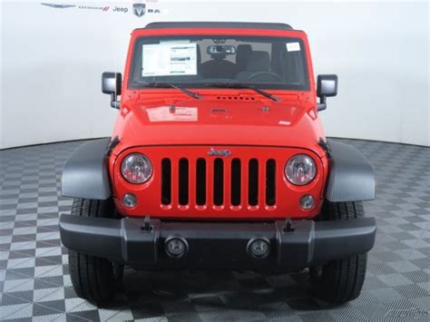 jeep wrangler 2 door soft top 1c4ajwag7gl265653 easy financing new red 2016 jeep