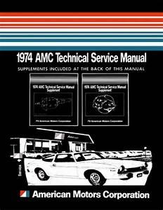 1974 Amc Service Shop Repair Manual Book Engine Drivetrain