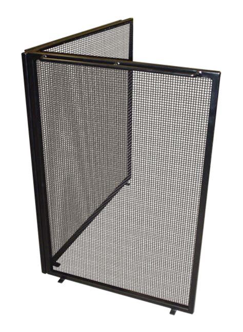 fireplace screens  wrought iron  mesh