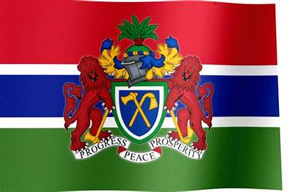 Gambia Flag Coat Arms Country Flags Africa