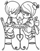 Coloring Pages February Sweet sketch template