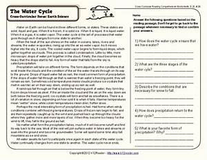 Water Cycle Worksheet For 4th