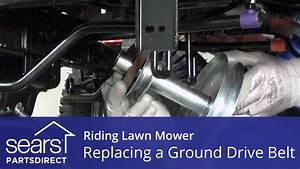Replacing A Ground Drive Belt On A Riding Lawn Mower