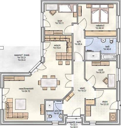 Haus 100 Qm Grundriss by Bildergebnis F 252 R Grundrisse Winkelbungalow 100 Qm