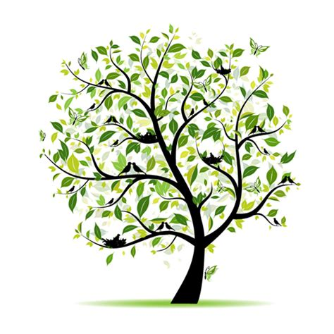 trees design different spring tree elements vector 05 vector plant free download
