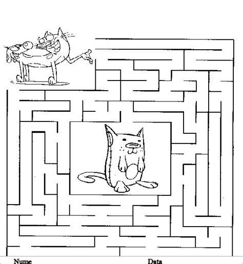 labirint planse de colorat si educative