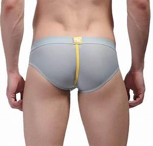 Cedir Men's Penis Hole Bulge Pouch Boxer Briefs Bottoms