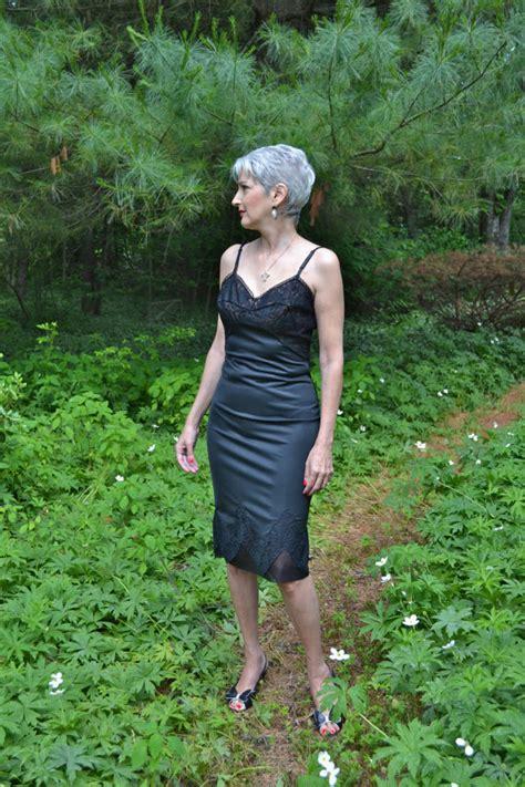 Rogers Lacy Black Slip Dress Early 60s Vintage Lingerie