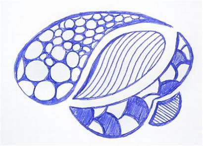 Draw Doodle Shell Weird Shape Lines
