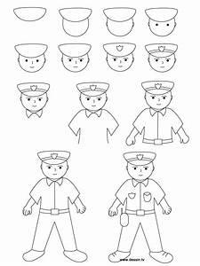 Comment Dessiner Un Petit Policier Dessin Et Coloriage