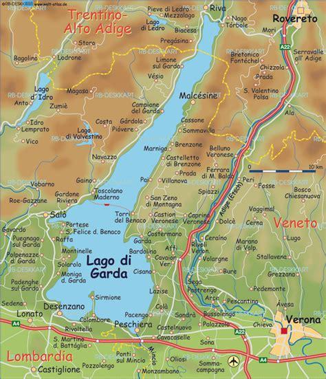 karte von gardasee italien karte auf welt atlasde