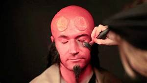 Hellboy Makeup Tutorial (live) - YouTube