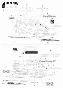 Ski Doo 1996 Grand Touring - 500  Decals 500