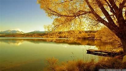 Scenes Autumn Wallpapers Fall Nature Lake Desktop