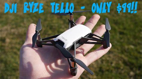 djis smallest  drone   heard  dji ryze tello review youtube