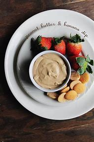Banana and Peanut Butter Dip