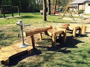 Holz Im Wasser Verbauen : wasser matschanlage mit spielplatzpumpe besendahl ~ Lizthompson.info Haus und Dekorationen