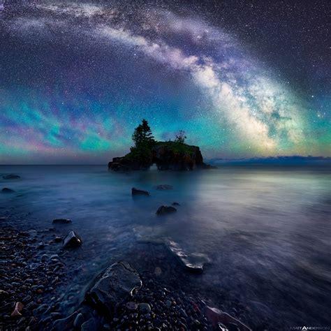 Milky Way Galaxy Wallpaper Milky Way Over Hollow Rock By Matt Anderson Color Photograph Artful Home