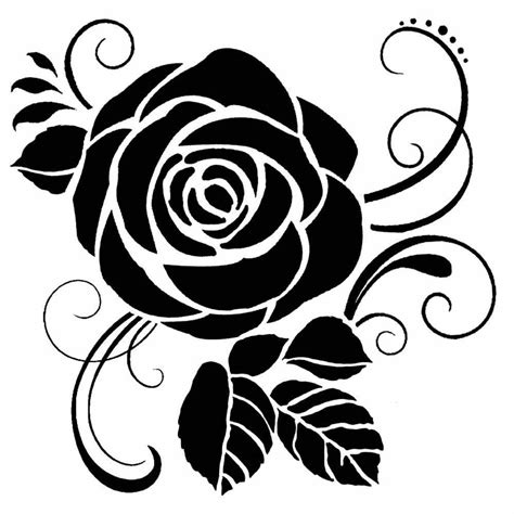 thick stencil rose kstdq craftlines