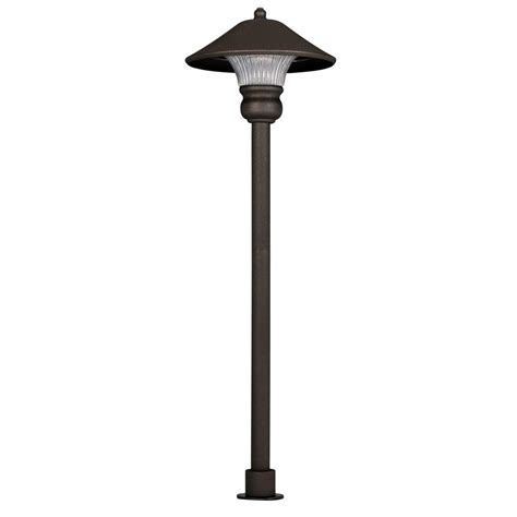 integrated led outdoor lighting hton bay low voltage bronze outdoor integrated led path