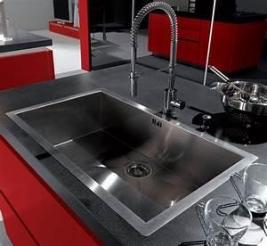 meuble de cuisine avec evier inox evier en inox table de With salle de bain design avec evier granit noir 1 bac