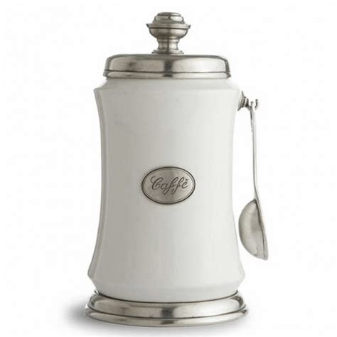 coffee canister with spoon tuscan coffee canister with spoon arte italica 3993