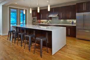 modern l shaped kitchen with island waterfall edge countertop why it belongs in your kitchen