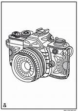 Coloring Pages Whimsical Camera Pattern Patterns Zentangle Adults Icolor Adult Colouring Flower Kaynağı Magiccolorbook Makalenin Collage sketch template