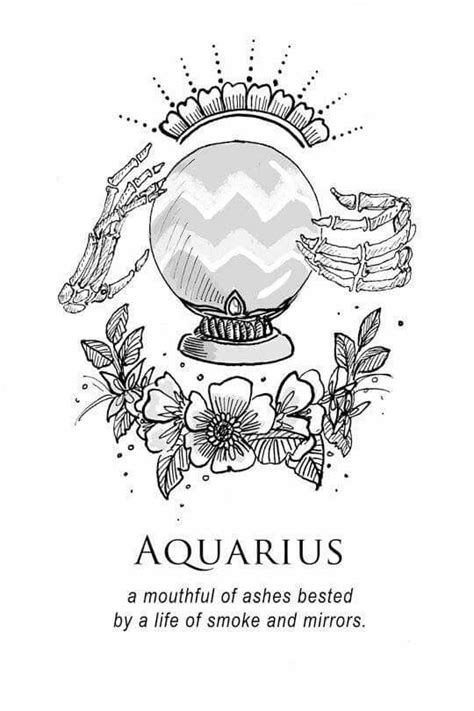 Art by Amrit Brar amritbrarillustration.com   Animated   Aquarius tattoo, Aquarius, Water bearer