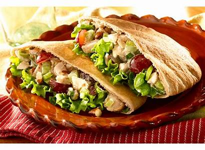 Pita Chicken Salad Toufayan Bread Napa Tortilla
