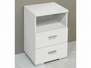 Nachttisch Weiß Günstig : kommode nachttisch wei 2 schubladen ablagefach ~ Michelbontemps.com Haus und Dekorationen