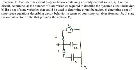 Solved Problem Consider The Circuit Diagram Below Cont