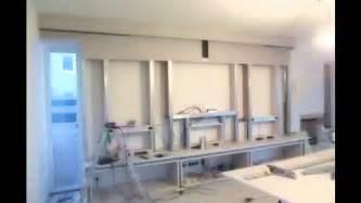 wohnzimmer tv wand innenausbau design multimedia tv wand trockenbau