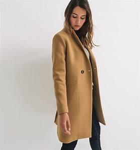 Veste D Hiver Femme 2017 : manteau d 39 hiver promod achat manteau droit femme promod ~ Dallasstarsshop.com Idées de Décoration