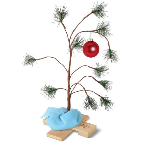 large charlie brown christmas tree the brown musical tree hammacher schlemmer