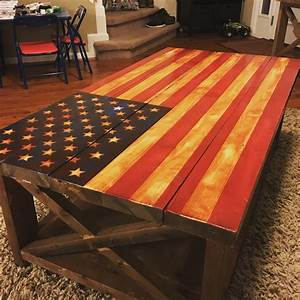 ana white american flag rustic x table diy projects With what kind of paint to use on kitchen cabinets for wooden american flag wall art