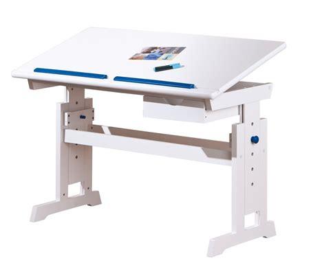 bureau bois massif blanc bureau inclinable bois massif blanc et bleu ou rubi