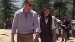 Superfit Kate Middleton strides ahead leaving Prince ...