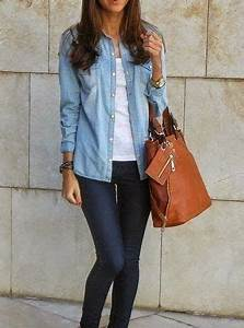 Best 25+ Denim button up ideas on Pinterest | Jean skirt style Summer skirt outfits and Denim ...