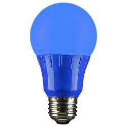 blue led a19 120 volt e26 medium base light bulb not dimmable for use in locations