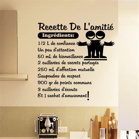 citation pour cuisine sticker citation recette de l 39 amitié stickers citations