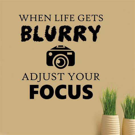 life  blurry photography quote vinyl decals wall