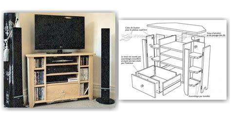 corner tv stand plans woodarchivist