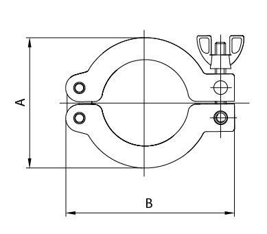 Kf 더블 핀 클램프 (al + Ni)  고품질 Kf 더블 핀 클램프 (al + Ni) 제조 업체부터