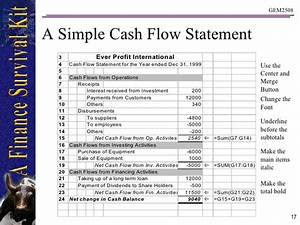 Download Cash Flow Statement Template