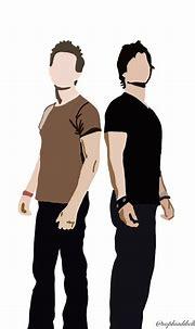 Damon + Stefan | Vampire drawings, Damon salvatore vampire ...