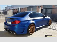Matte Blue Prior Design BMW M5 Wide Body