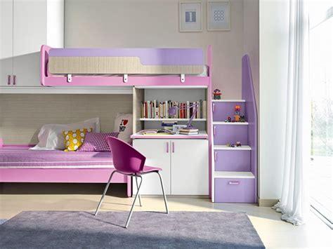 bureau pour fille chambre fille avec lit superpose paihhi com