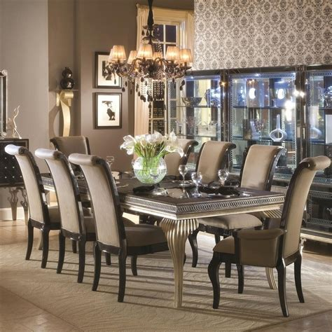 stylish beautiful dining table and chairs dinning room