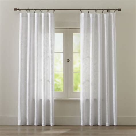 White Drapery by Lindstrom White Cotton Curtains Crate And Barrel
